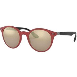 Ray-Ban Round Style Brown/Gold Mirrored Lens